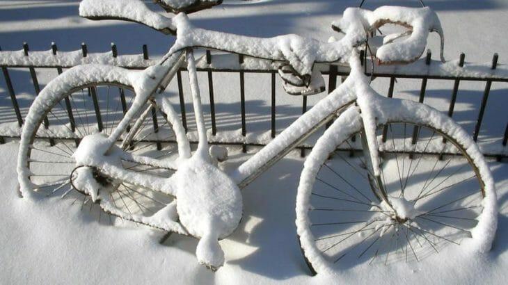 fahrradschloss eingefrohren